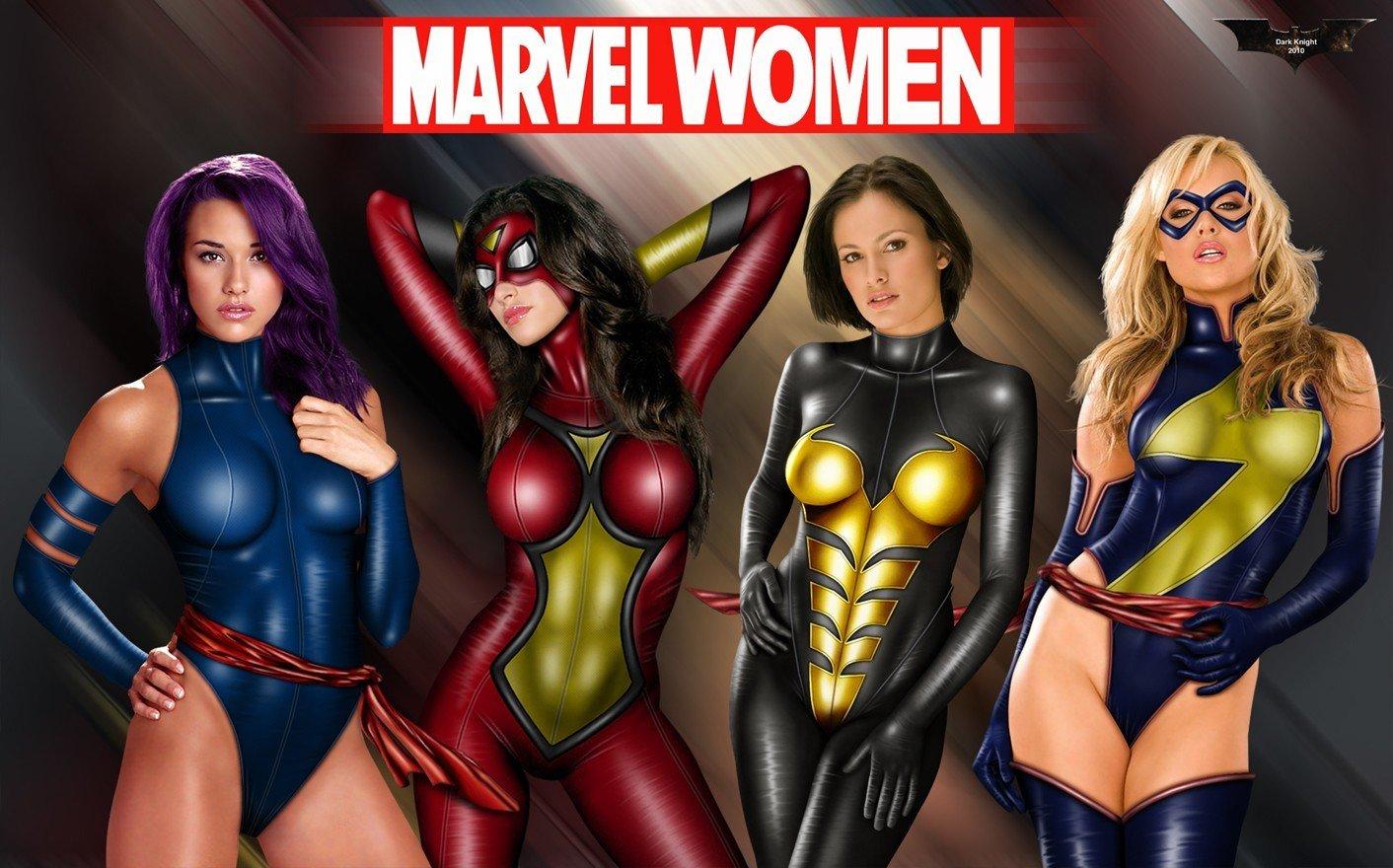 Naked superhero females
